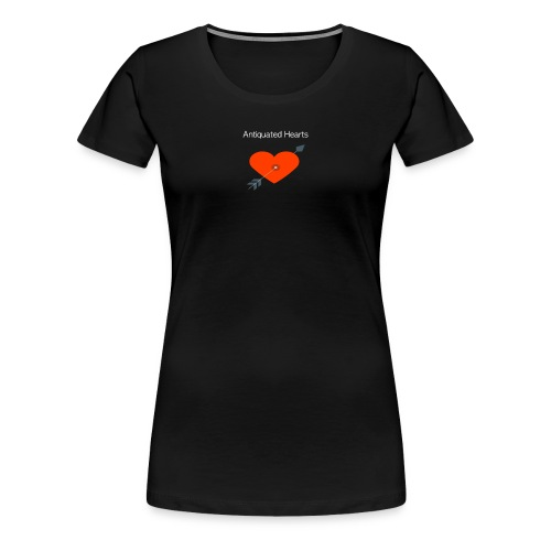 Antiquated Hearts cupids arrow white lettering - Women's Premium T-Shirt
