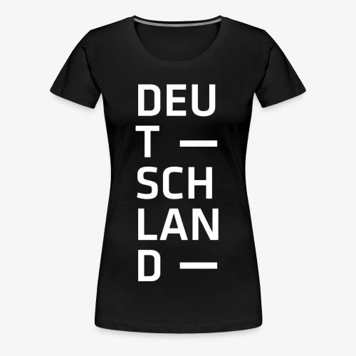Deutschland Typo T Shirt Spruch weiss - Frauen Premium T-Shirt