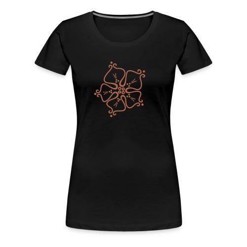 einzelne Rose ohne Schrift - Frauen Premium T-Shirt