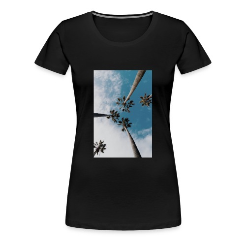 palm-tree-1209536_1920 - Premium-T-shirt dam