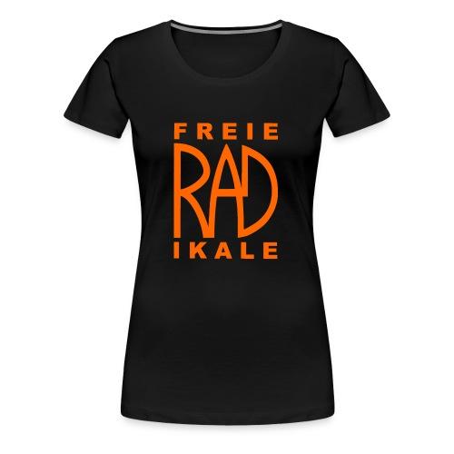 Freie RADikale Logo orange - Frauen Premium T-Shirt
