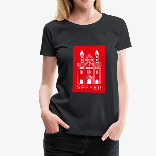 Speyer - Dom - Red - Modern Font - Frauen Premium T-Shirt