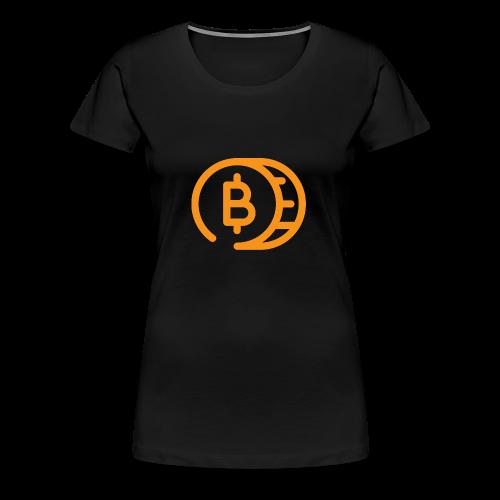 Bitcoin Cartoon Coin - Vrouwen Premium T-shirt