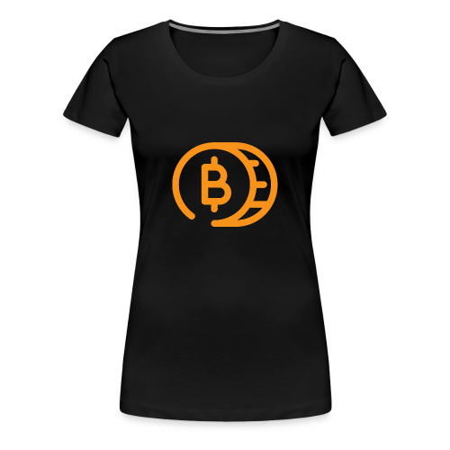 Bitcoin Cartoon Coin - Vrouwen Premium T-shirt