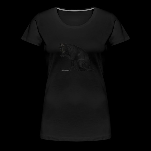 chat noir élégant - T-shirt Premium Femme
