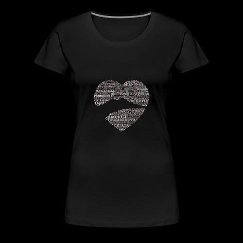 cuordinapoli black - Maglietta Premium da donna