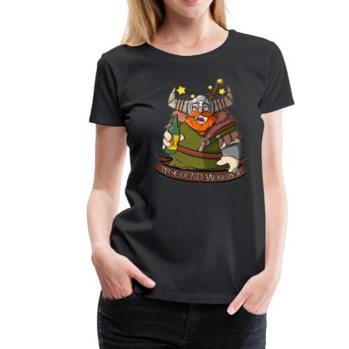Weekend Warrior - Wikinger mit Bier am Wochenende - Frauen Premium T-Shirt