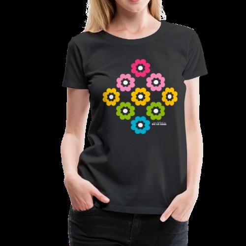 RAINBOW BLOOM - Naisten premium t-paita
