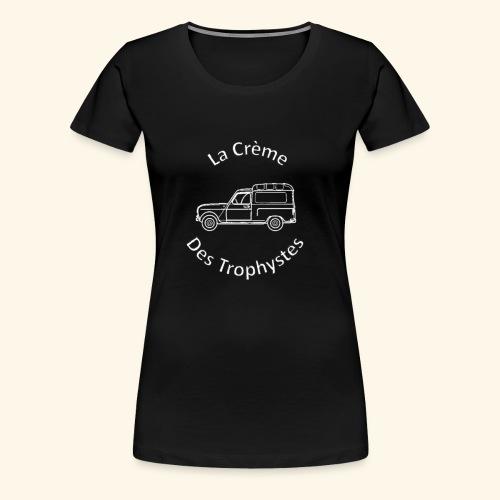 La Crème Des Trophystes - Modèle Fourgonette Blanc - T-shirt Premium Femme