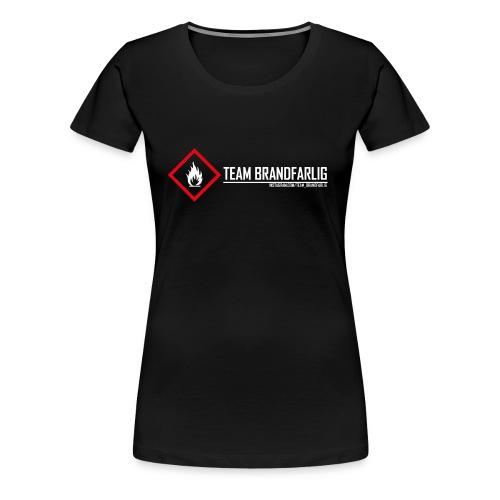 Team Brandfarlig vit - Premium-T-shirt dam