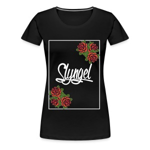 Rose Slyngel Border - Premium T-skjorte for kvinner