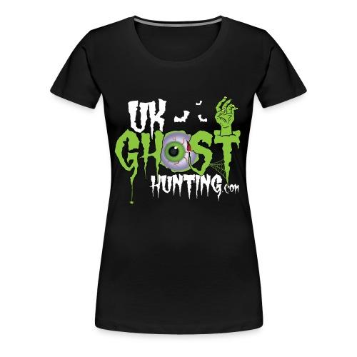 UK Ghost Hunting Eyball Logo - Women's Premium T-Shirt