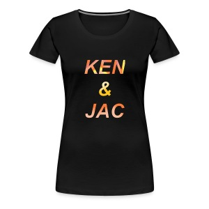 Ken & Jac Logo - Premium T-skjorte for kvinner