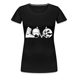 Skiing Love Shirt - Women's Premium T-Shirt