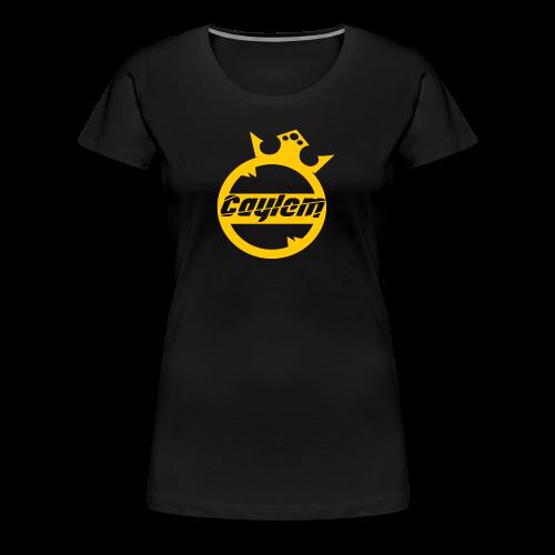 Caylem Logo Gold - Frauen Premium T-Shirt