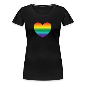 Hart in regenboog kleuren - Vrouwen Premium T-shirt