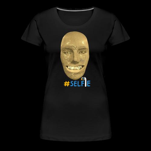 Gold Gesicht mit Zahndiamant - Frauen Premium T-Shirt