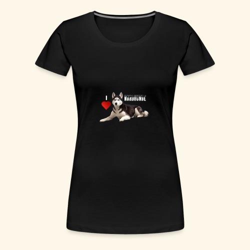 husky 08 weiss - Frauen Premium T-Shirt