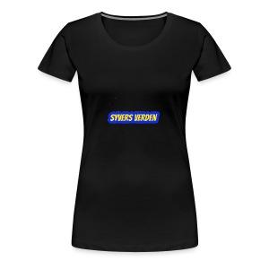 syvers verden logo - Premium T-skjorte for kvinner