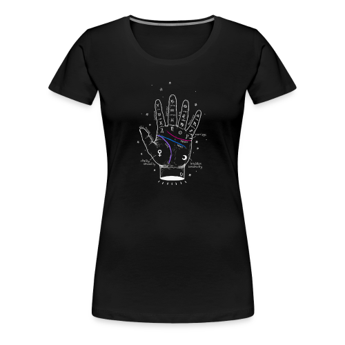 hand reading - Frauen Premium T-Shirt
