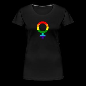 Gay pride regenboog vrouwen symbool - Vrouwen Premium T-shirt