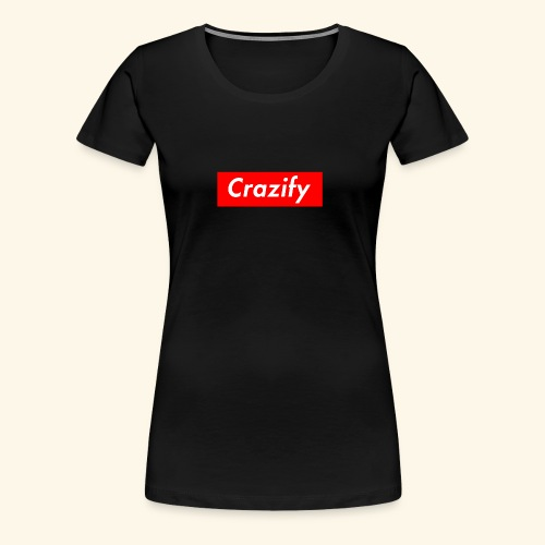 Crazify Red & White - Women's Premium T-Shirt