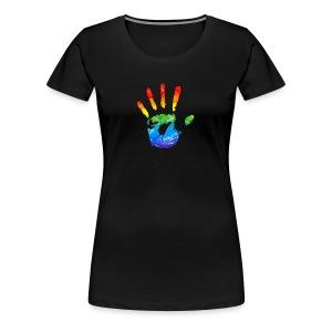 Regenbooghand - Vrouwen Premium T-shirt