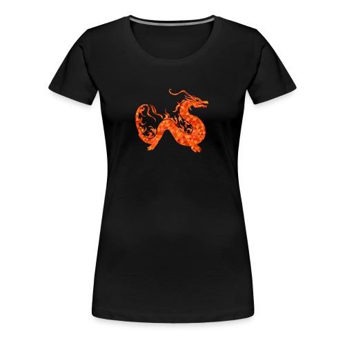 orange roter Drachen - Frauen Premium T-Shirt