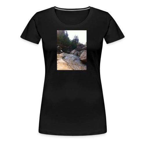 Bergbach1 - Frauen Premium T-Shirt
