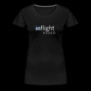 inflight Video White Logo - Women's Premium T-Shirt
