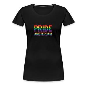 Pride Amsterdam in regenboog kleuren - Vrouwen Premium T-shirt