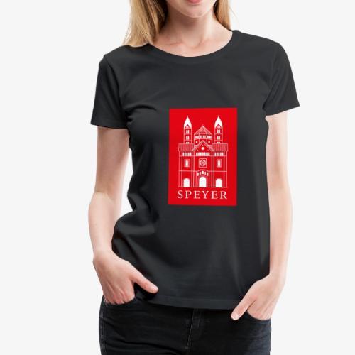 Speyer - Dom - Red - Classic Font - Frauen Premium T-Shirt