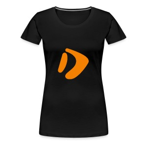 Logo D Orange DomesSport - Frauen Premium T-Shirt