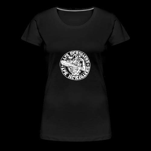 Valkoinen nuijamuija - Naisten premium t-paita