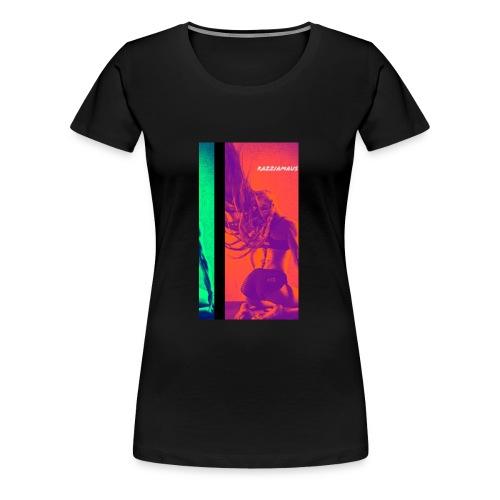 womancontest Razziamaus True Color double flash - Frauen Premium T-Shirt