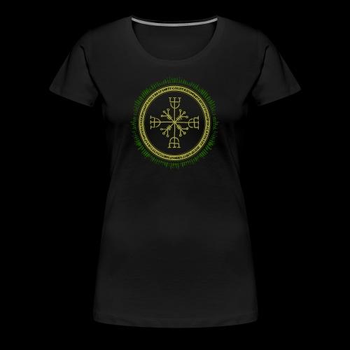 Norse Runes with Aegishjalmur 2017 - Women's Premium T-Shirt