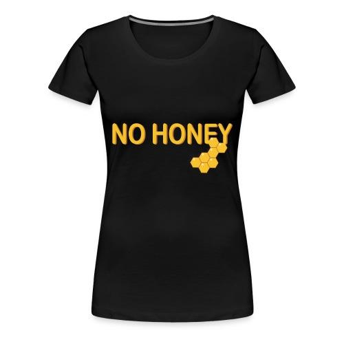 kein Honig vegan biene wabe veganismus idee - Frauen Premium T-Shirt