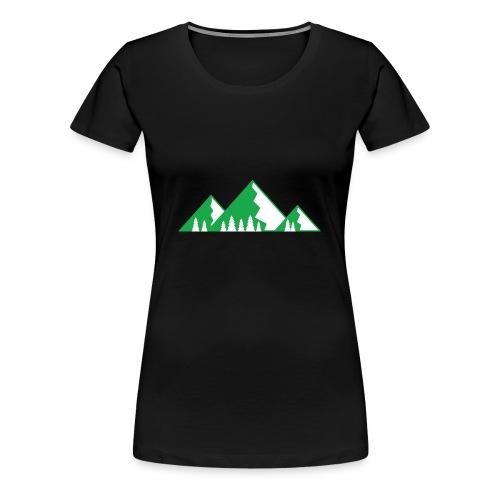 Berge mit Wald - Frauen Premium T-Shirt