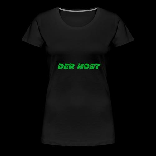 DER HOST (WEISS/GRAU) - Frauen Premium T-Shirt