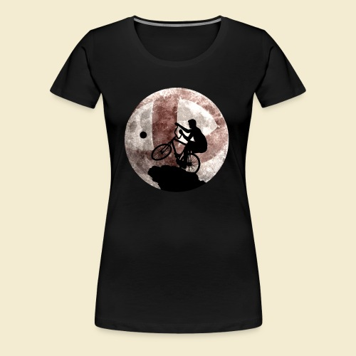 Radball | Cycle Ball Moon - Frauen Premium T-Shirt