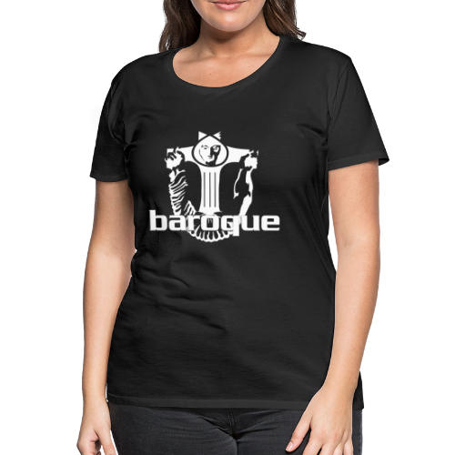 Baroque Records Logo Black - Frauen Premium T-Shirt