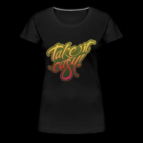 Take it easy yellow-red - Frauen Premium T-Shirt