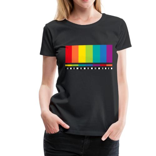 Testbild Fernsehen Bildschirm Sendeschluss Display - Frauen Premium T-Shirt