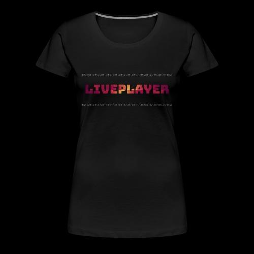 LivePlayer V.7 Weiße Umrandung - Frauen Premium T-Shirt