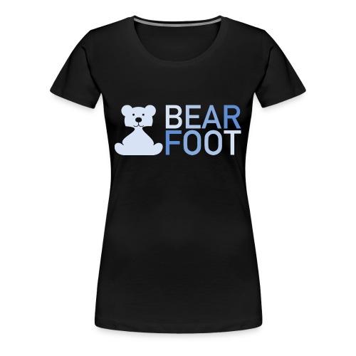 BEAR FOOT fade blue - Frauen Premium T-Shirt