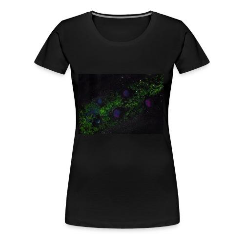 Grüne Milchstraße mit Planeten - Frauen Premium T-Shirt