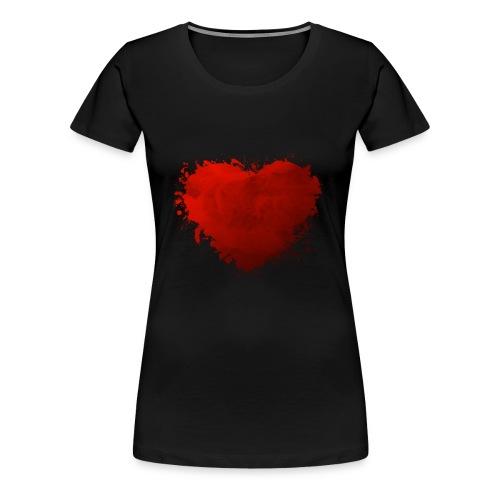 Herz paint - Frauen Premium T-Shirt