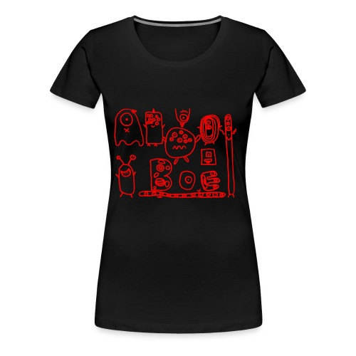 monsters-rood - Vrouwen Premium T-shirt