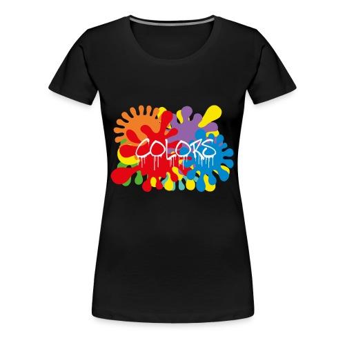 COLORS TACHES - T-shirt Premium Femme