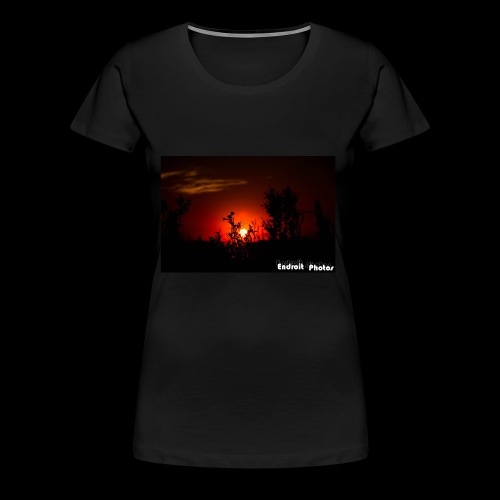 Sonnenuntergang Silhouette - Frauen Premium T-Shirt